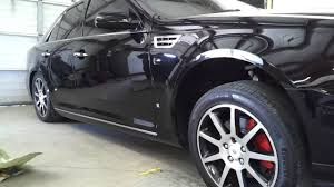 lexus isf calipers how 2008 cadillac sts got calipers painted so wet and red youtube