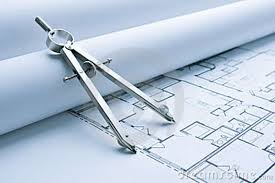 Floor Plan Drawing Free Blue Print Floor Plans With Drawing Compass Royalty Free Stock