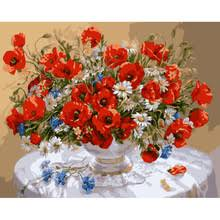 Vase With Red Poppies Popular Oil Painting Poppies Buy Cheap Oil Painting Poppies Lots