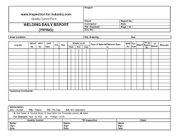engineering inspection report template piping welding daily quality and inspection report form