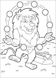 juggling lion coloring pages hellokids
