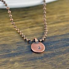 photo gifts necklace images Mens initial necklace mens copper chain christmas gift boyfriend jpg