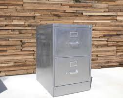Metal Filing Cabinet Refinished 2 Drawer Letter Size Metal Filing Cabinet W Wood
