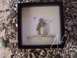 pebble art picture unique gift idea wedding couple marriage