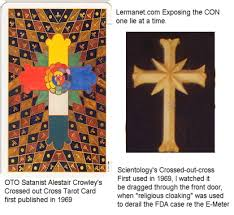 why does the church of scientology use a cross dope