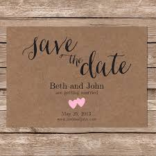 diy save the dates printable save the date kraft paper rustic wedding diy