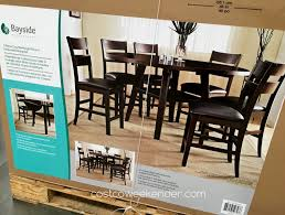 Compact Bar Table Dining Set  Costco Pub Dining Table Set Mix - Costco dining room set