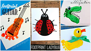 adorable footprint crafts for kids and babies youtube
