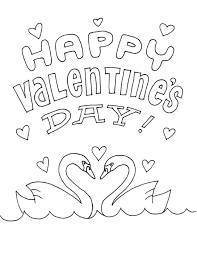 swans valentines coloring pages valentine coloring pages of