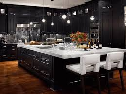 kitchen ideas with black cabinets black cabinet kitchens large green open shelves wooden ceiling