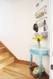 Small Entryway Table by Best 25 Half Table Ideas On Pinterest Purple Nightstands