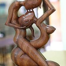 home sculptures wood sculpture art gallery experimental best the kiss products on