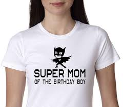 pj masks super mom birthday boy masks shirt pj masks