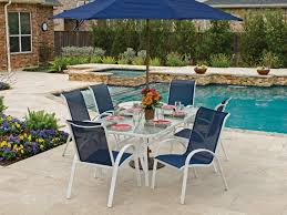 adorable white outdoor dining set cape cod sling aluminum patio