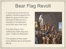 California Flag Bear Manifest Destiny California U0026 Gold Rush Mexican American War And