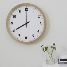 oak large wall clock decorative accessories the white company uk