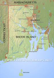 United States Geography Map by Physical Map Of Rhode Island
