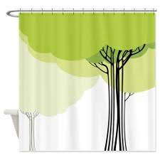 Shower Curtain With Tree Design Green Shower Curtains Google Search Bathroom Ideas Pinterest