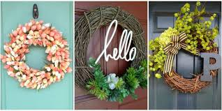 10 diy summer wreath ideas outdoor front door wreaths for summer