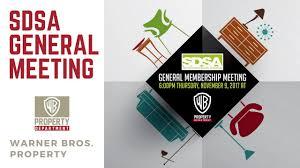 SDSA General Membership Meeting at WB