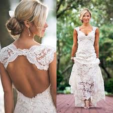 vintage lace wedding dress discount vintage lace wedding dresses open back bridal gowns