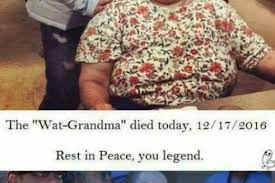 Wat Meme Lady - is wat grandma dead the internet seems to think so player one
