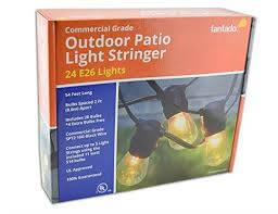Commercial Grade Patio Light String by Amazon Com Fantado 24 Socket Outdoor Commercial Grade Patio
