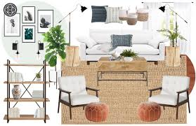 contemporary classic glam living room design by havenly interior final concept