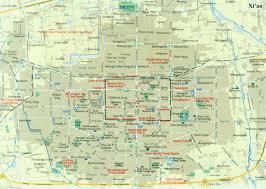 map of xi an xian city map xian maps china tour advisors