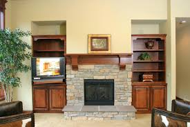 fireplace sleek double mantle fireplace for house ideas double