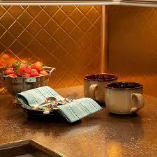 Fasade Backsplash Panels Reviews by Fasade Backsplash Quilted In Polished Copper