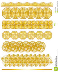 golden ornamental trim collection royalty free stock photo