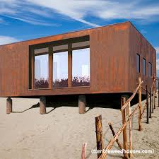 Tumbleweed Houses The Z Glass Is A Classic Design With Rolled Steel Siding The