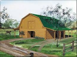 the 6 stall log barn with shed and loft space can u0027t wait to have