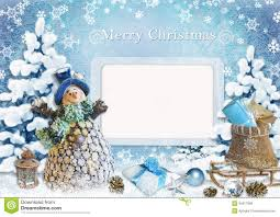 christmas greeting card with frame stock illustration image