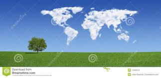 World Cloud Map by Lonely Tree And World Map Clouds Xxxlarge Royalty Free Stock