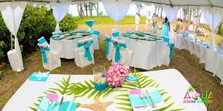 island themed wedding hawaii wedding reception package