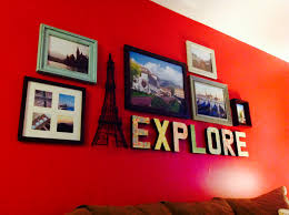 study abroad photo collage of different homegoods frames and