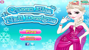 queen elsa nail designs game for little kids hd baby video