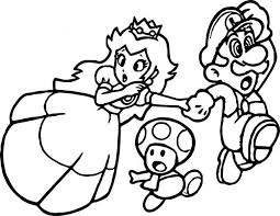 coloring pages mario party printable free kart wii peach coloring