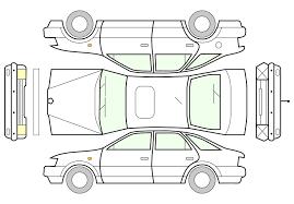 clipart unfolded car