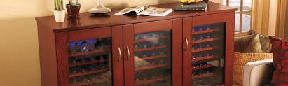 Bar Cabinet With Wine Cooler Wine Cabinets Wine Cooler Cabinets For Your Bottles