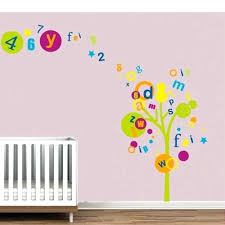 Letter Wall Decals For Nursery Alphabet For Wall Decor Wall Decal Design Letters Nursery Decor