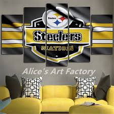 steelers home decor 5plane painting calligraphy home decor canvas wall pictures