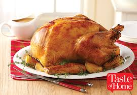 roast turkey recipe taste of home aldi us herb brined turkey with garlic pan gravy