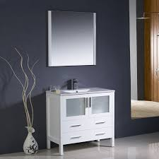 Lowes Bathroom Vanities by Shop Fresca Bari White Undermount Single Sink Bathroom Vanity With