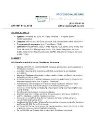 Ssis And Ssrs Resume Database Admin Resume 2016l Microsoft Sql Server 2008 Mcts 1