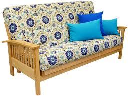 mid century futon amish classic bent arm mission futon frame oak