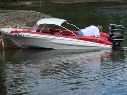 15 feet 1961 glastron fireflite convertible red white for sale