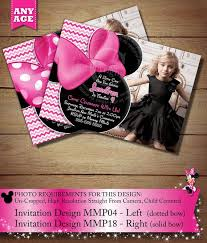75 best pink chevron minnie mouse birthday party invitations
